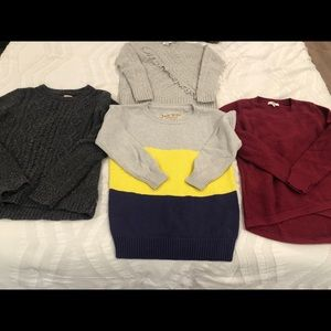 4 Jcrew, Madewell, and Jack Wills Sweaters!